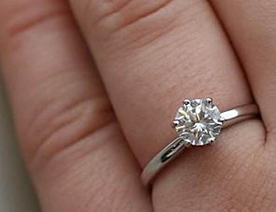 White Zircon gemstone ring