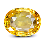 Yellow Sapphire with Brilliant luster
