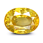 Oval-cut Yellow Sapphire