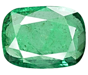Zambian emerald with no eye visible inclusions