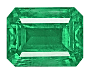 Emerald cut Zambian Emerald