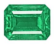 Emerald cut Zambian Emerald