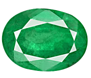 Oval cut Zambian emerald