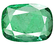 Cushion Cut Zambian Emerald